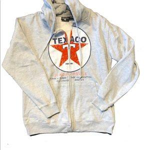 Cool Texaco zip up hoodie Grey M Chemistry